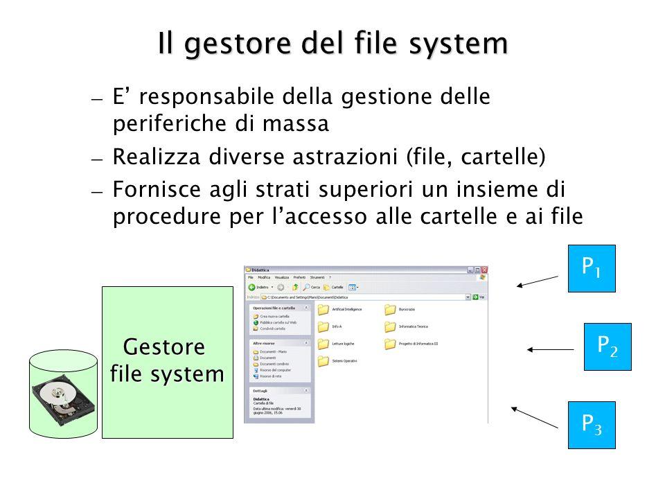 Il gestore del file system