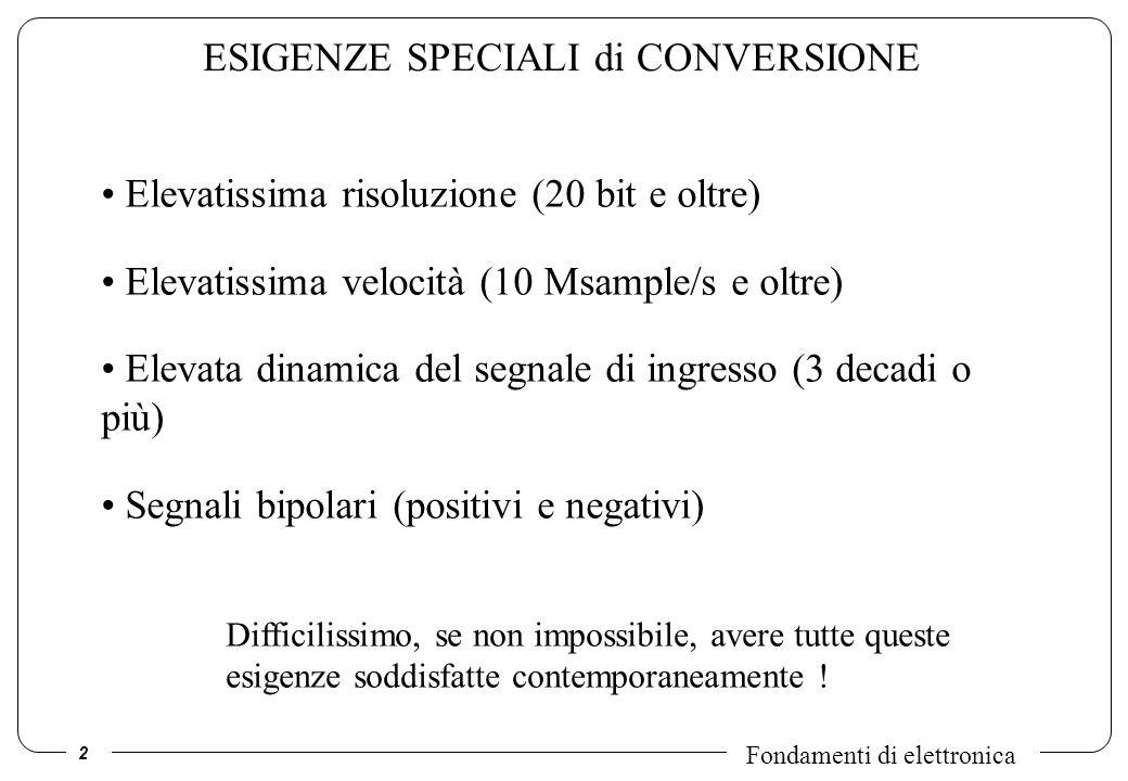 ESIGENZE SPECIALI di CONVERSIONE