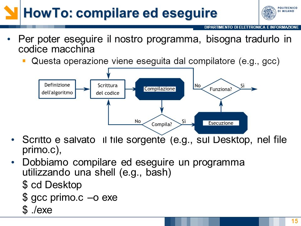 HowTo: compilare ed eseguire
