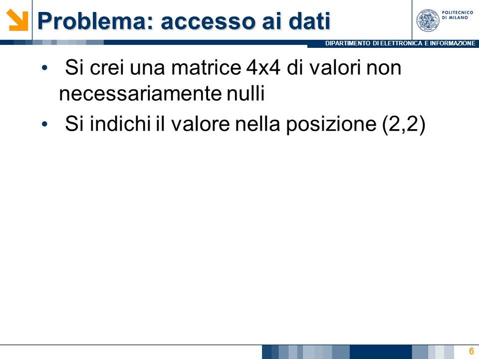 Problema: accesso ai dati