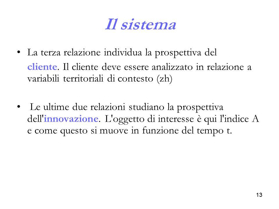 Il sistema La terza relazione individua la prospettiva del