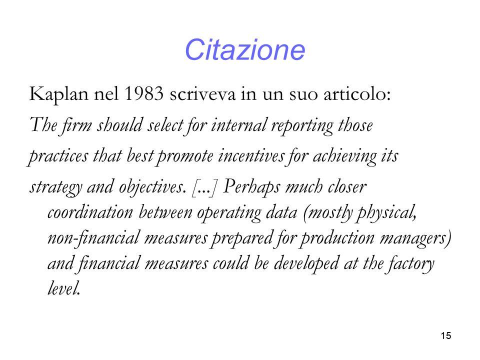 Citazione Kaplan nel 1983 scriveva in un suo articolo: