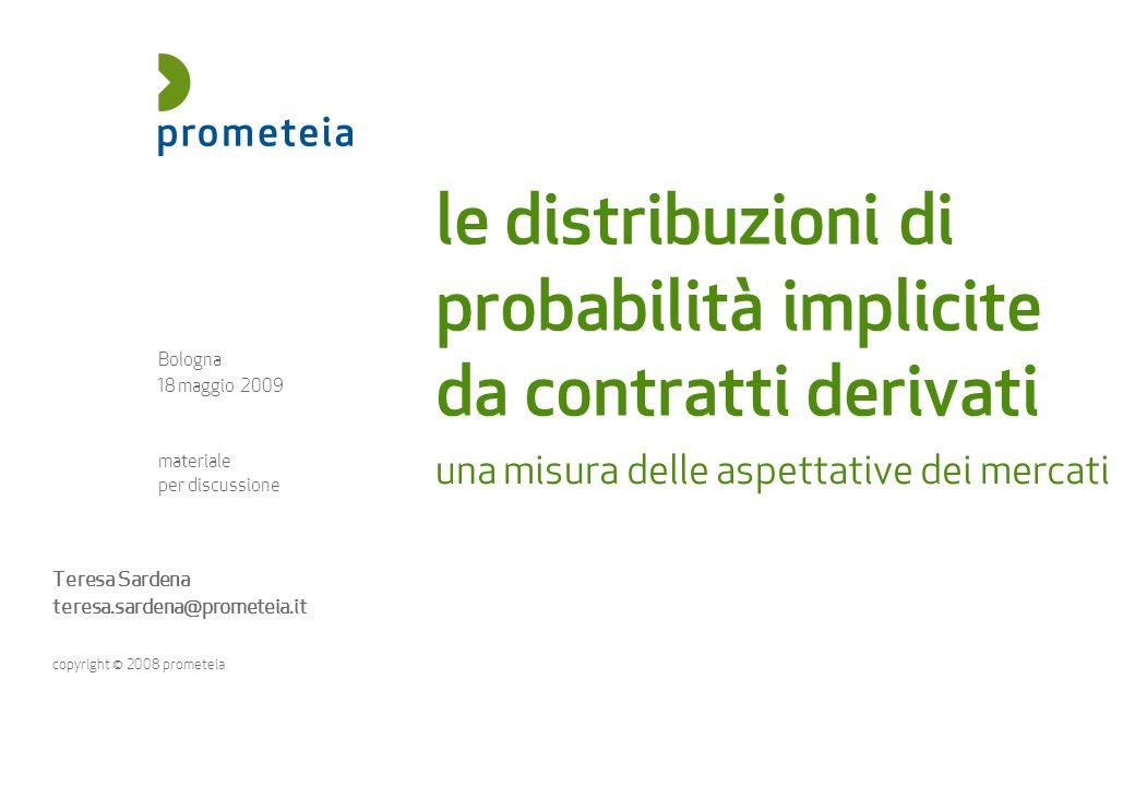 le distribuzioni di probabilità implicite da contratti derivati