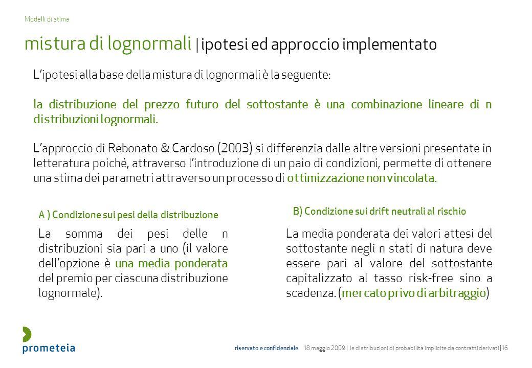 mistura di lognormali | ipotesi ed approccio implementato