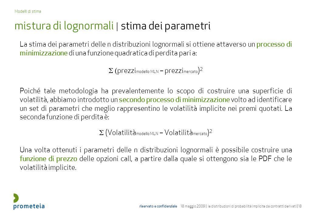 mistura di lognormali | stima dei parametri