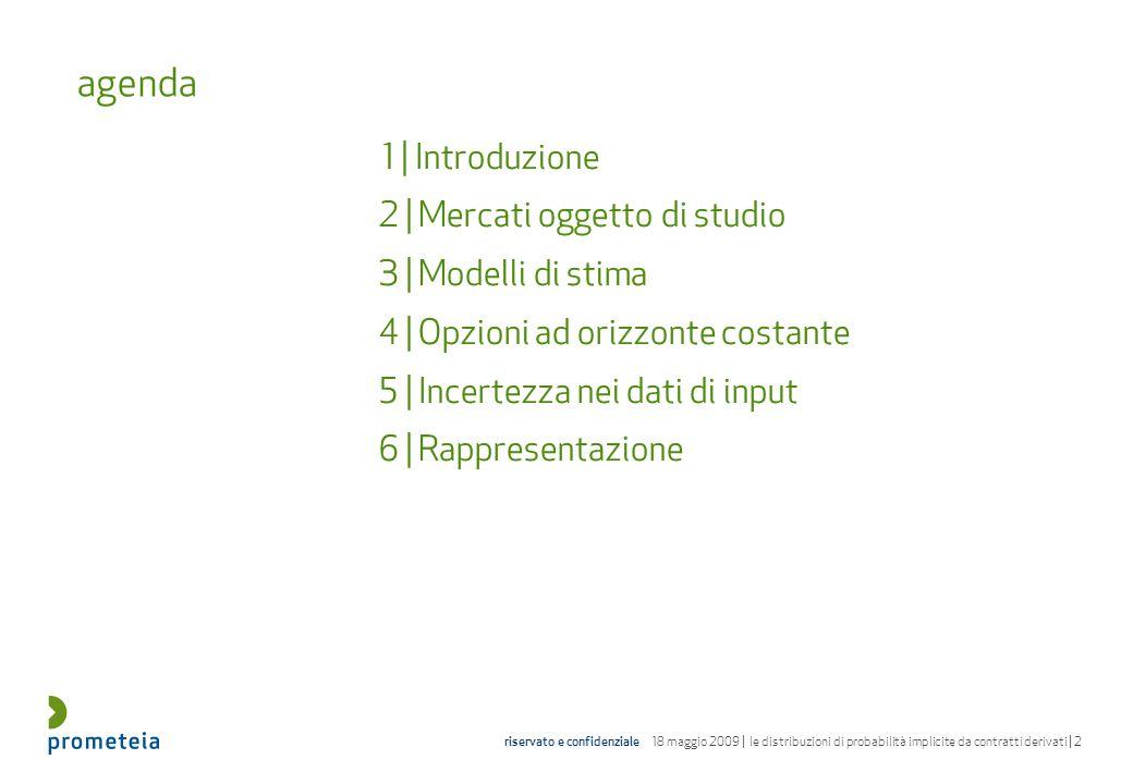 agenda 2 | Mercati oggetto di studio 3 | Modelli di stima