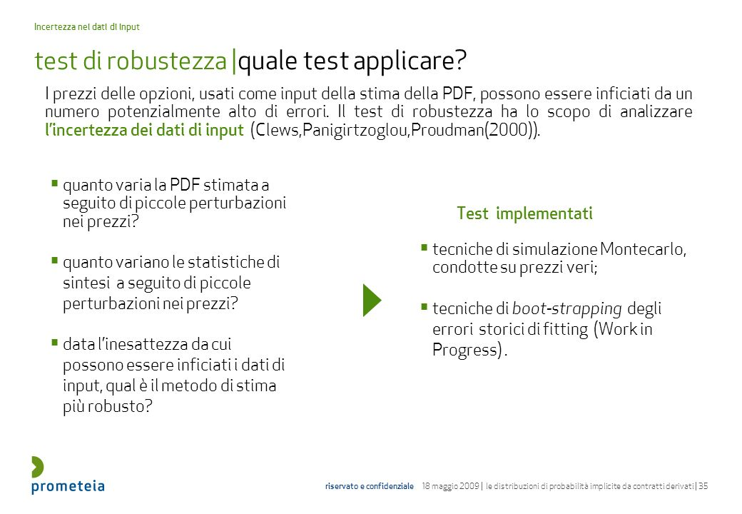test di robustezza |quale test applicare