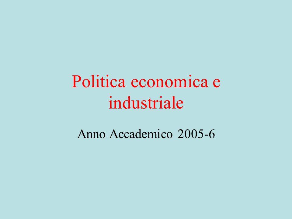 Politica economica e industriale