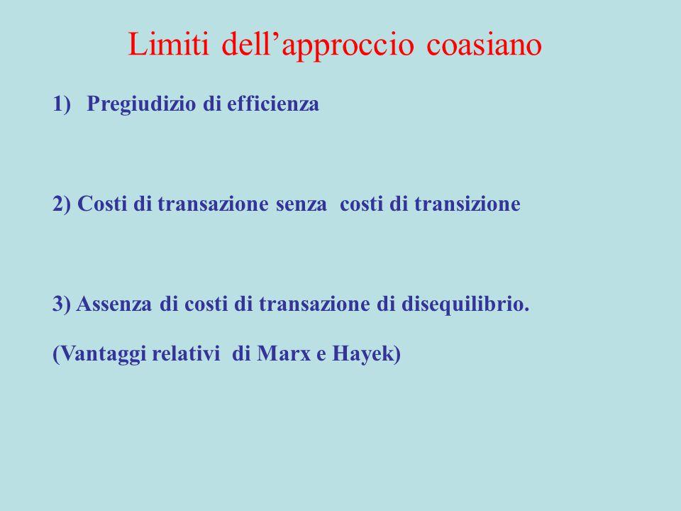 Limiti dell'approccio coasiano