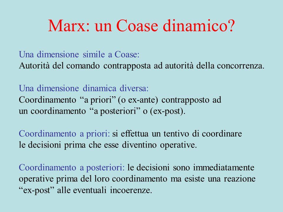 Marx: un Coase dinamico