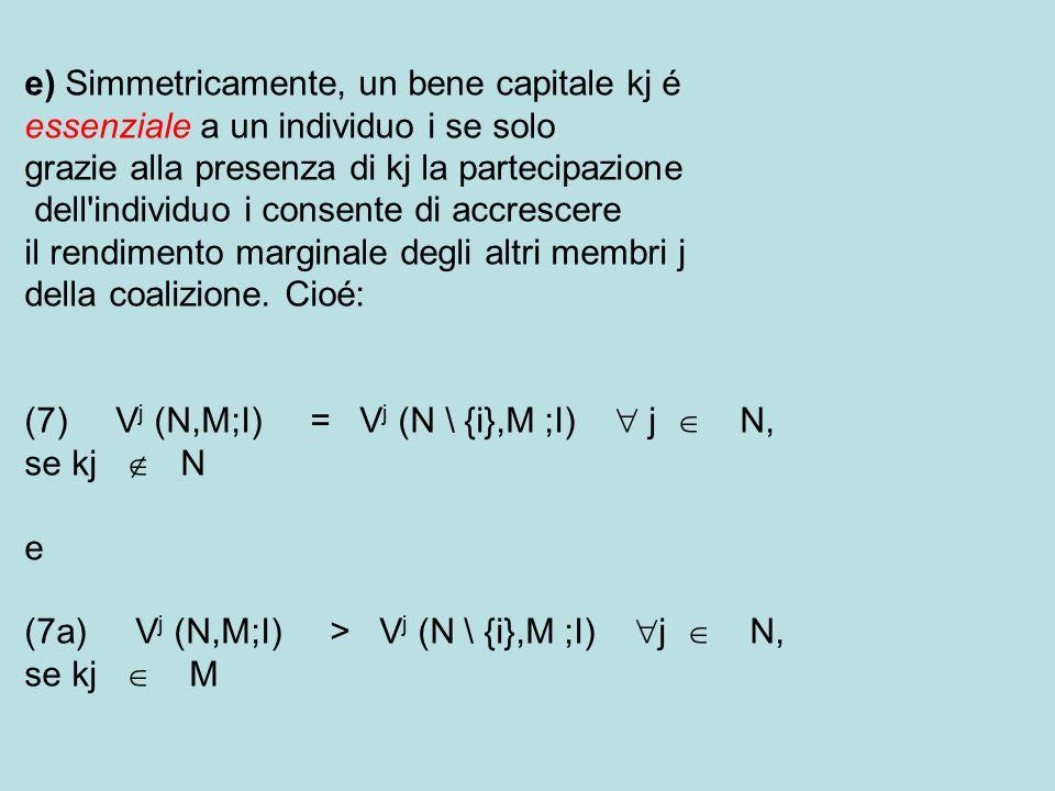 e) Simmetricamente, un bene capitale kj é