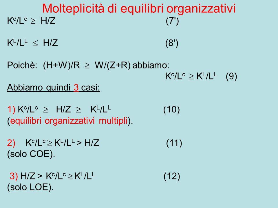 Molteplicità di equilibri organizzativi