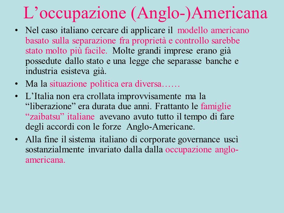 L'occupazione (Anglo-)Americana