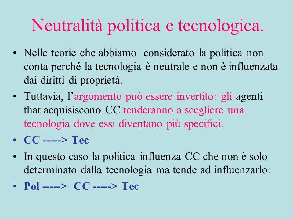 Neutralità politica e tecnologica.