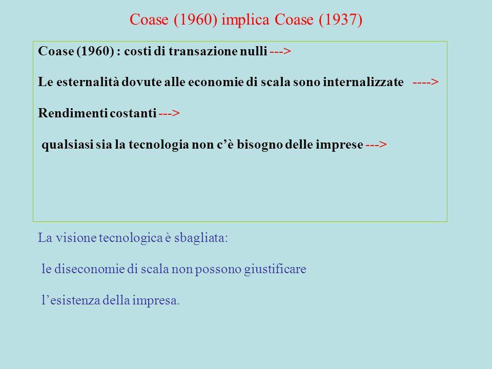 Coase (1960) implica Coase (1937)