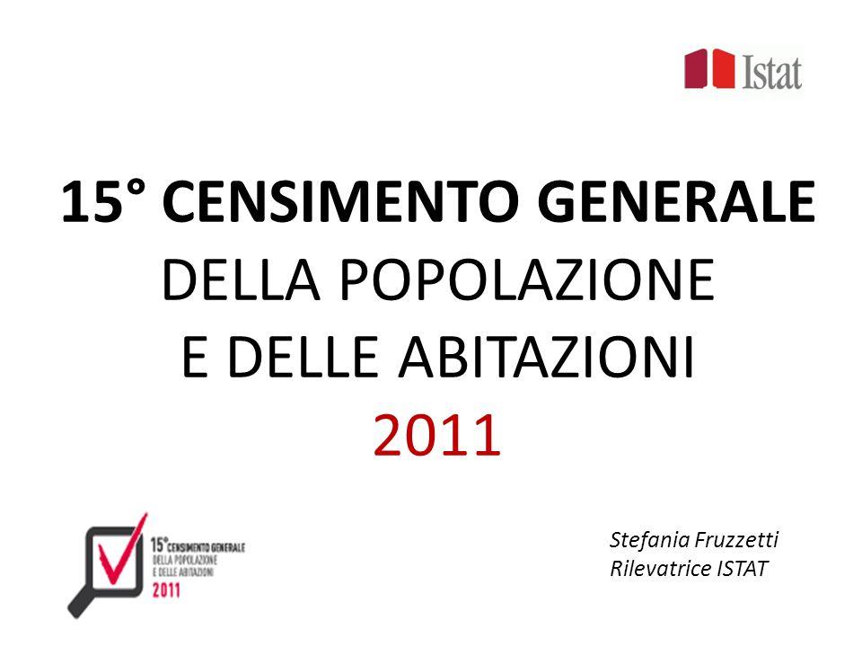 15° CENSIMENTO GENERALE DELLA POPOLAZIONE E DELLE ABITAZIONI 2011