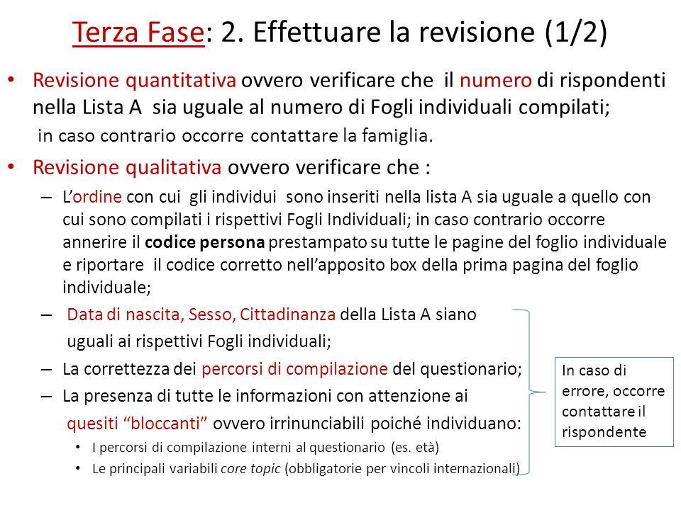 Terza Fase: 2. Effettuare la revisione (1/2)
