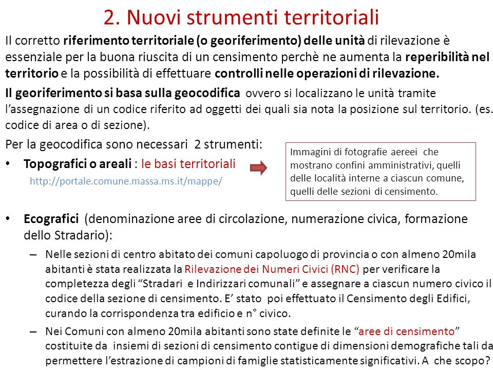 2. Nuovi strumenti territoriali