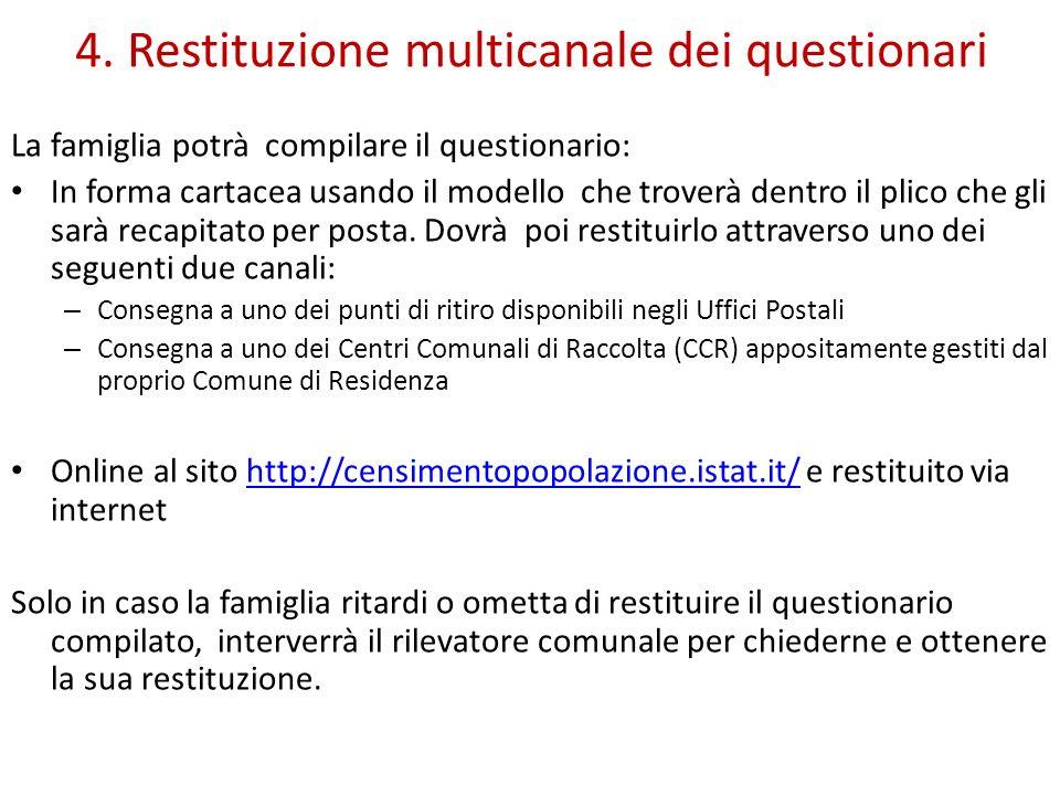 4. Restituzione multicanale dei questionari