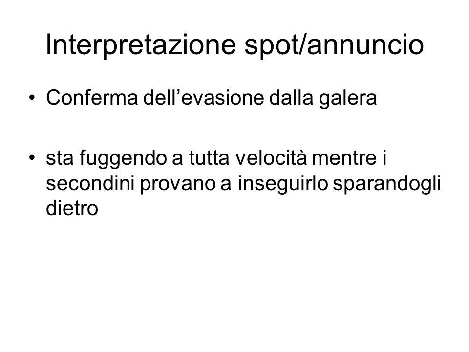 Interpretazione spot/annuncio