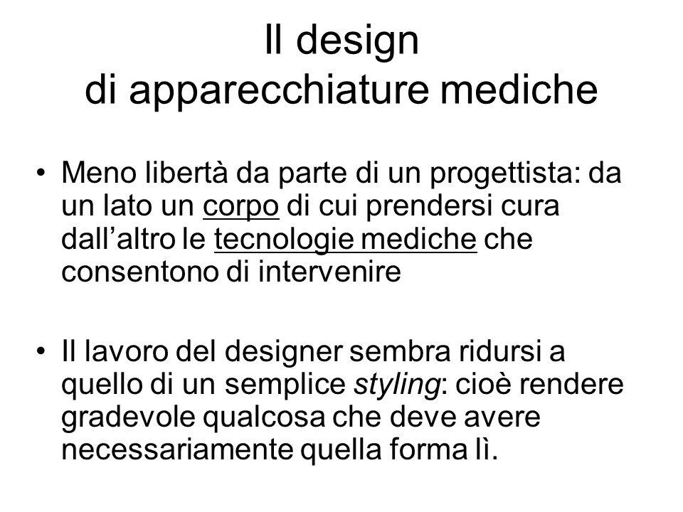 Il design di apparecchiature mediche