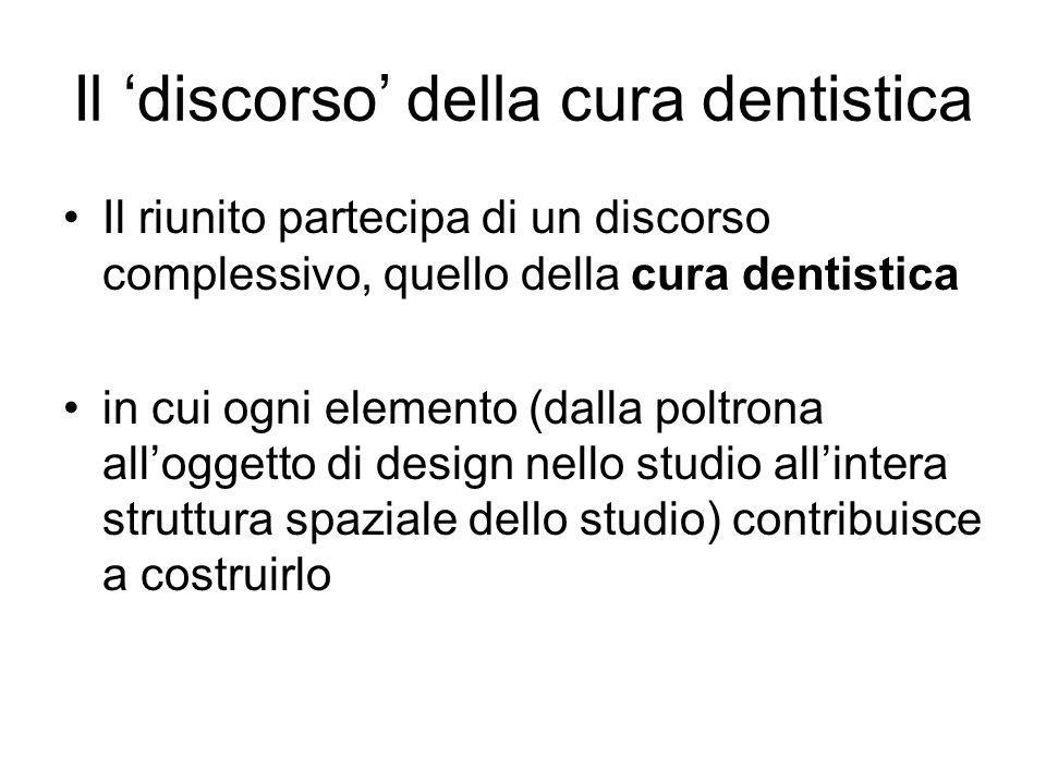 Il 'discorso' della cura dentistica