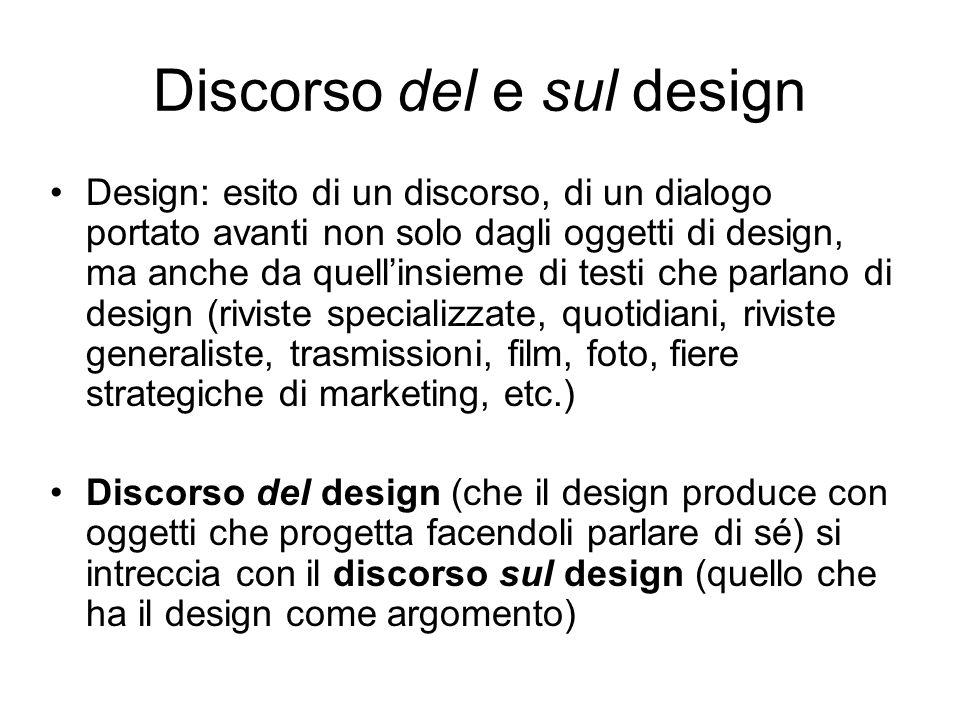 Discorso del e sul design