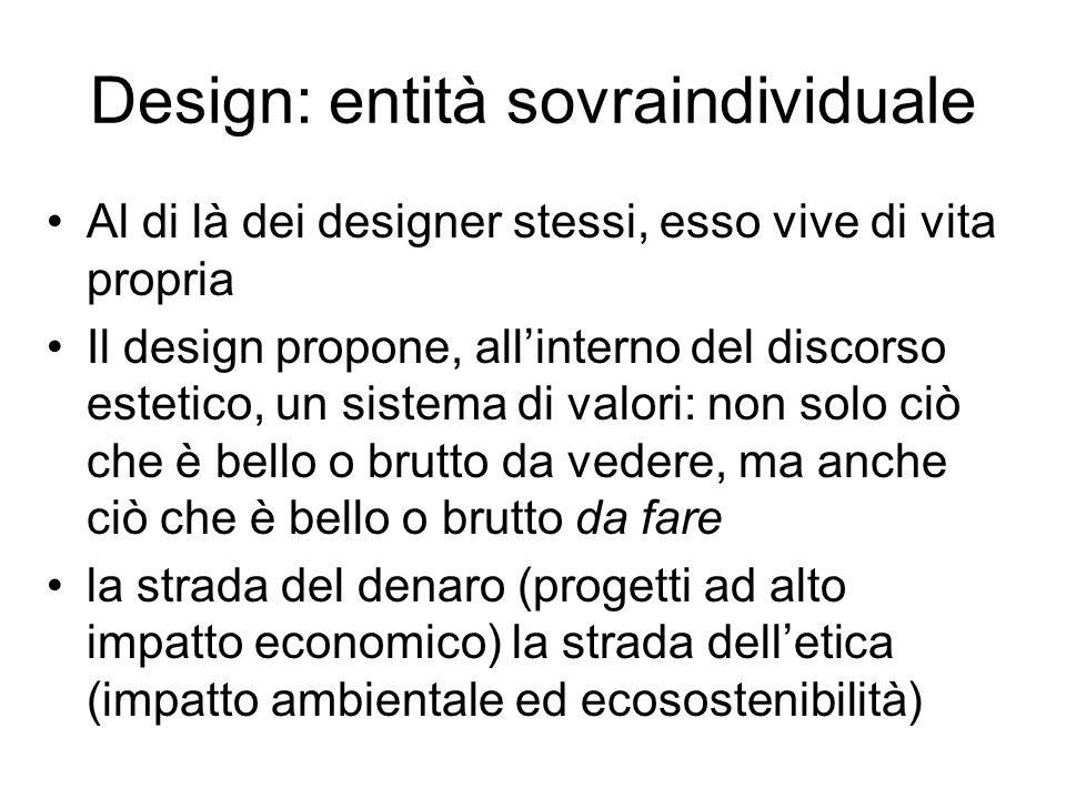 Design: entità sovraindividuale