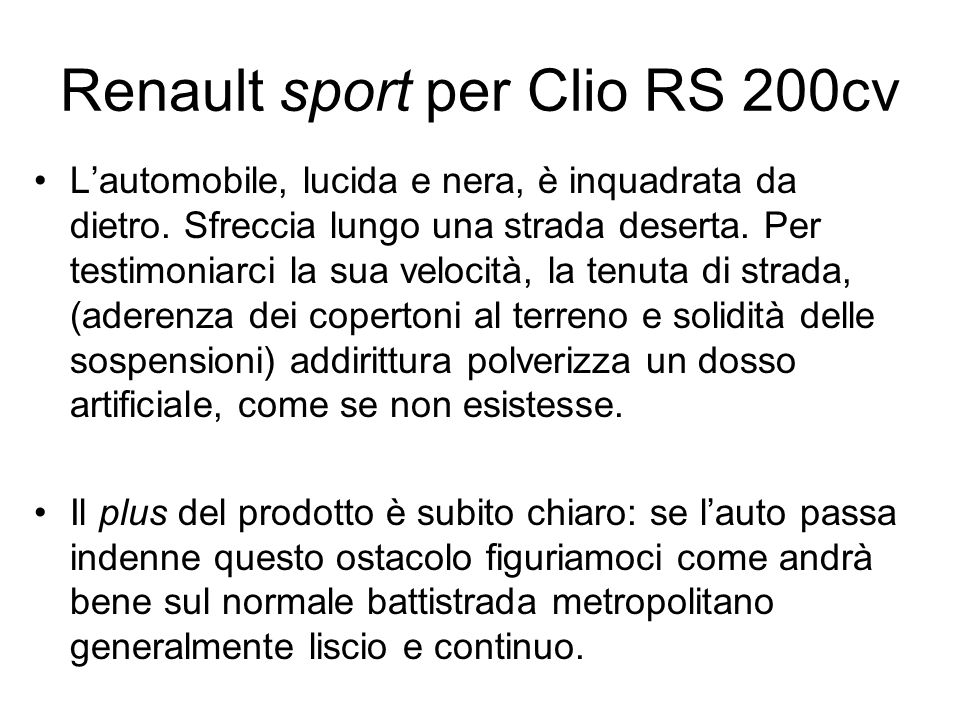 Renault sport per Clio RS 200cv
