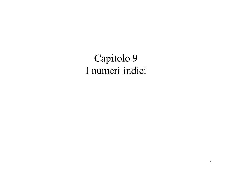 Capitolo 9 I numeri indici