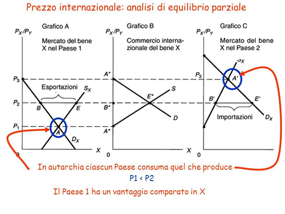Prezzo internazionale: analisi di equilibrio parziale