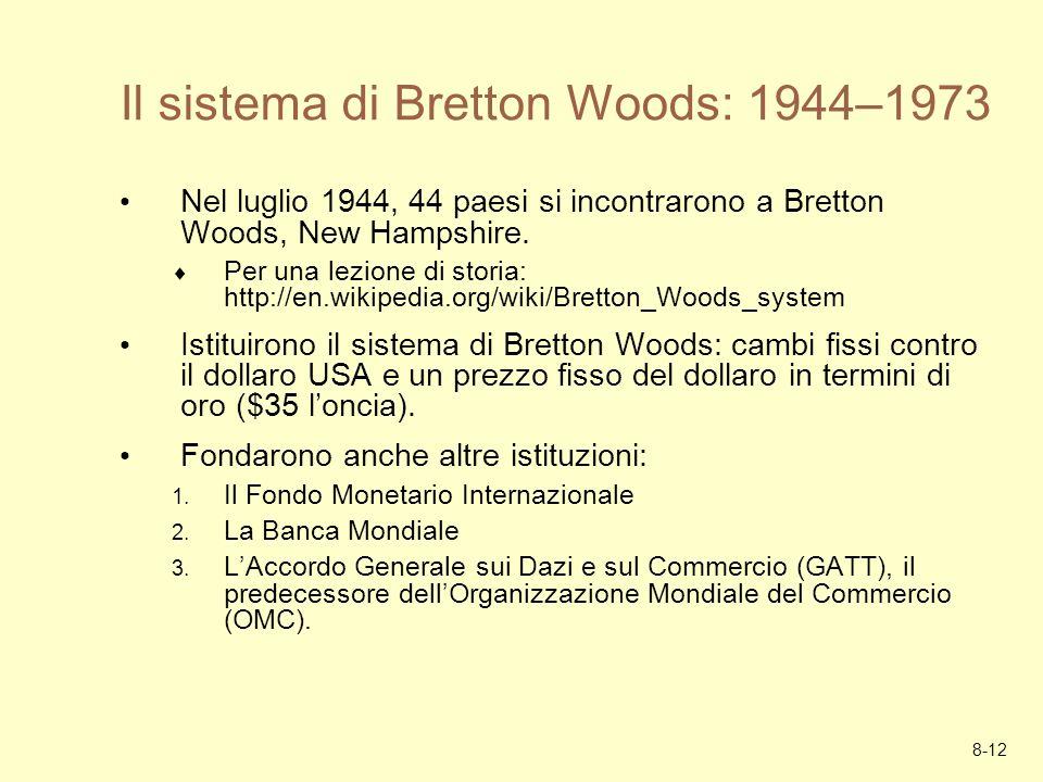 Il sistema di Bretton Woods: 1944–1973