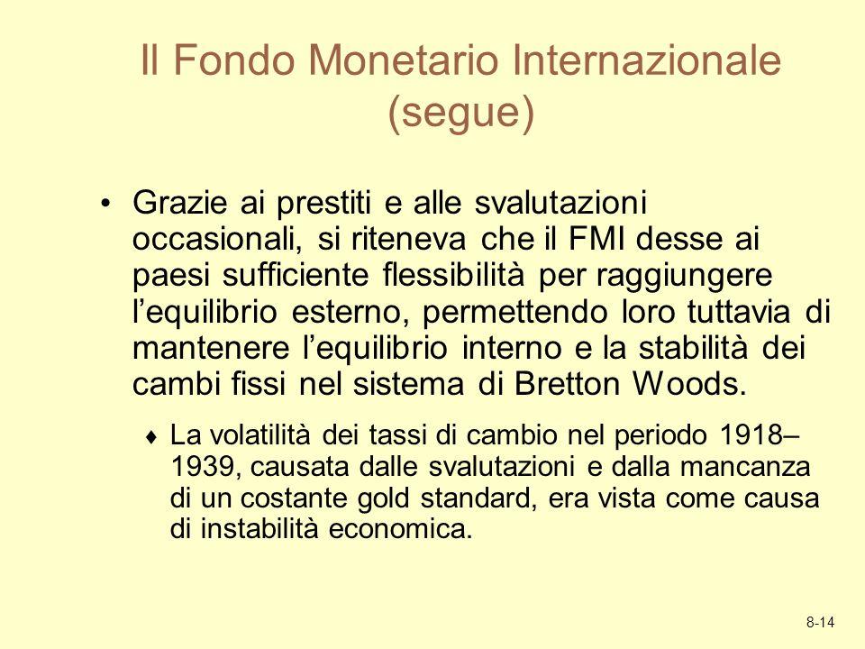 Il Fondo Monetario Internazionale (segue)
