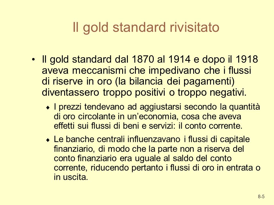Il gold standard rivisitato