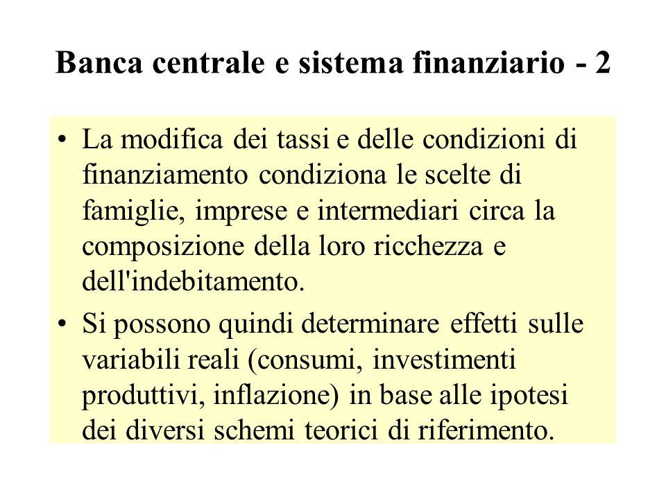 Banca centrale e sistema finanziario - 2