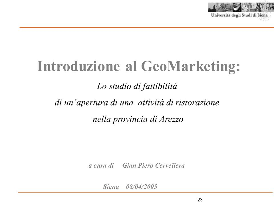 Introduzione al GeoMarketing: a cura di Gian Piero Cervellera