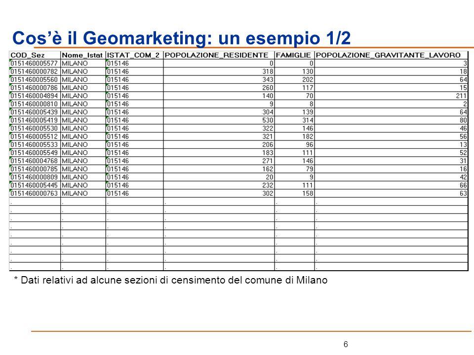 Cos'è il Geomarketing: un esempio 1/2