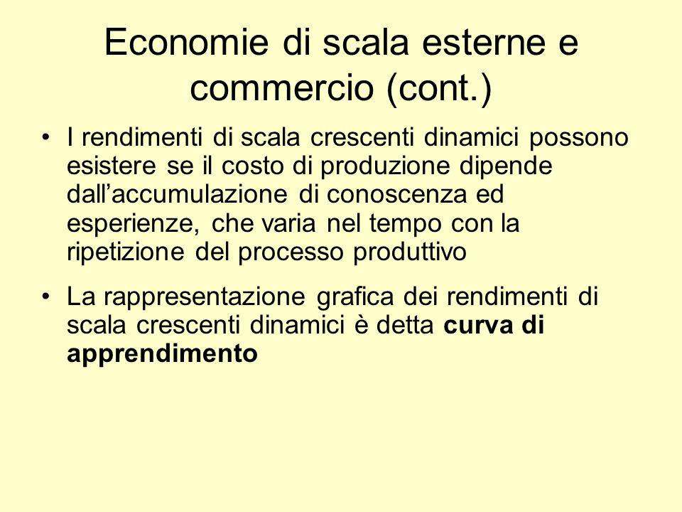 Economie di scala esterne e commercio (cont.)
