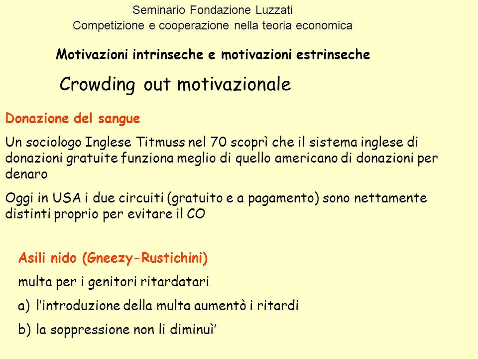 Crowding out motivazionale
