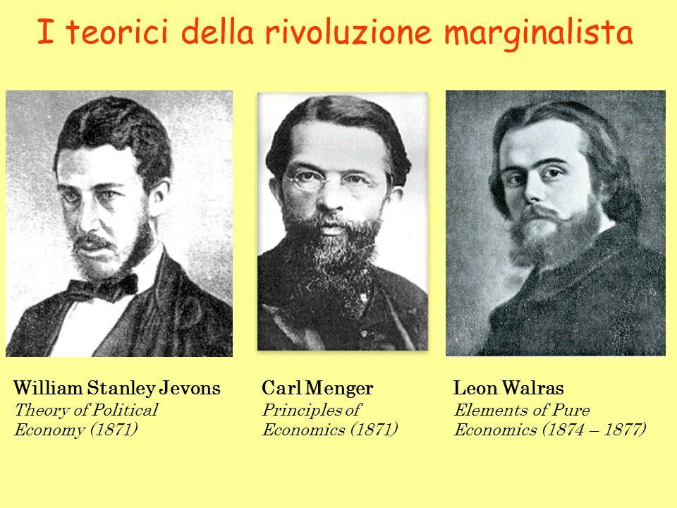 I teorici della rivoluzione marginalista