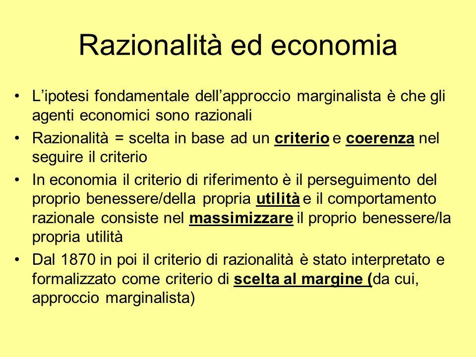 Razionalità ed economia