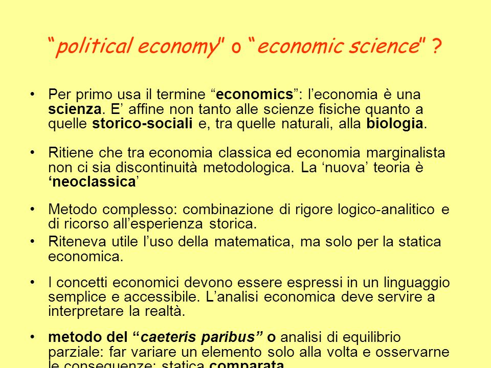 political economy o economic science