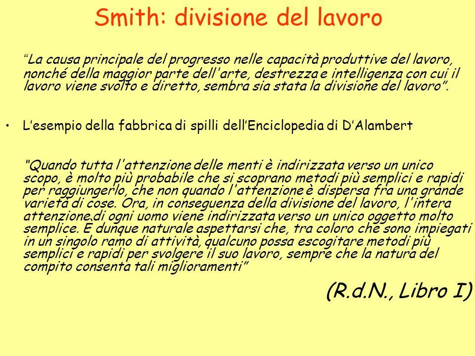 Smith: divisione del lavoro