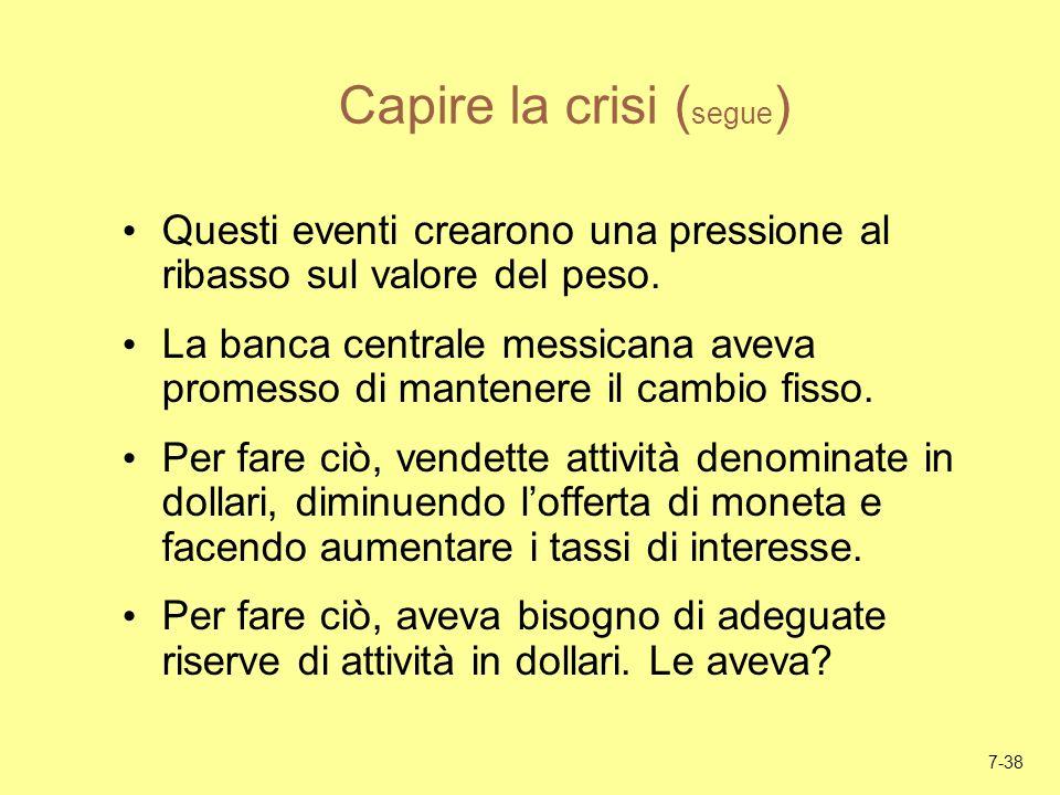 Capire la crisi (segue)
