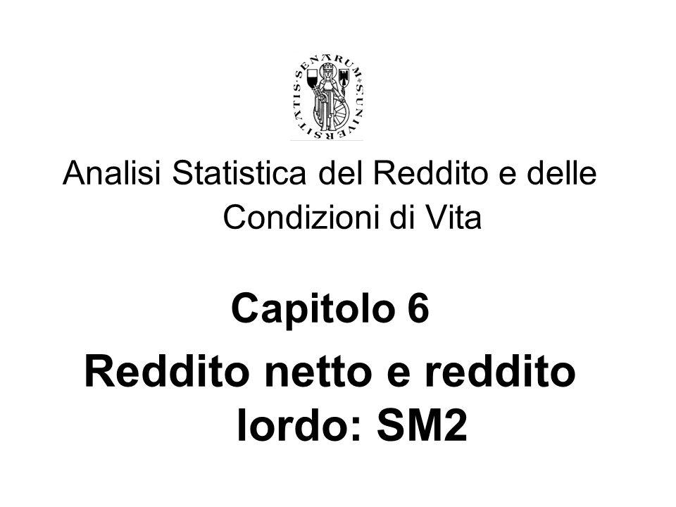 Reddito netto e reddito lordo: SM2