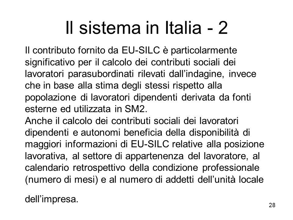 Il sistema in Italia - 2