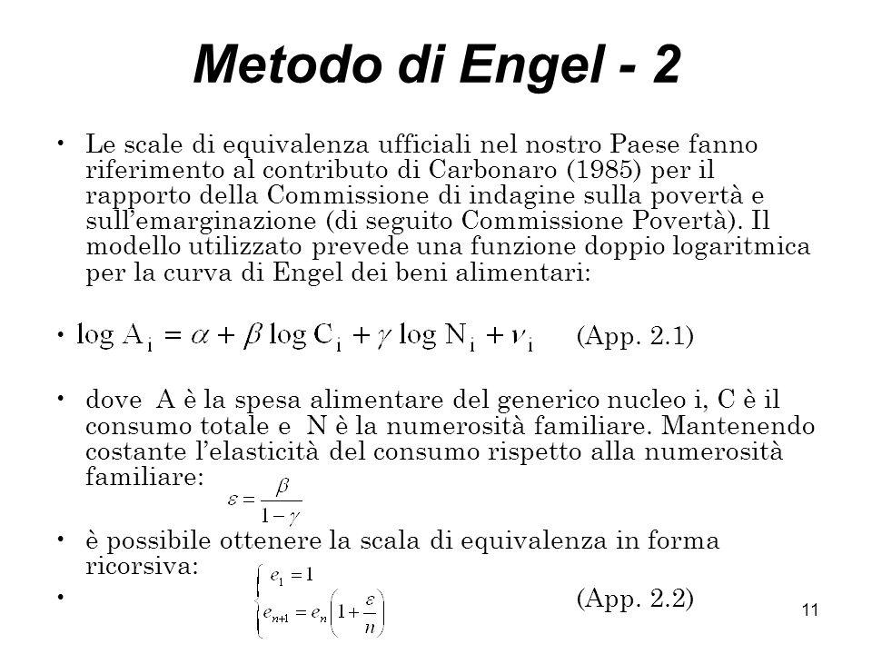 Metodo di Engel - 2