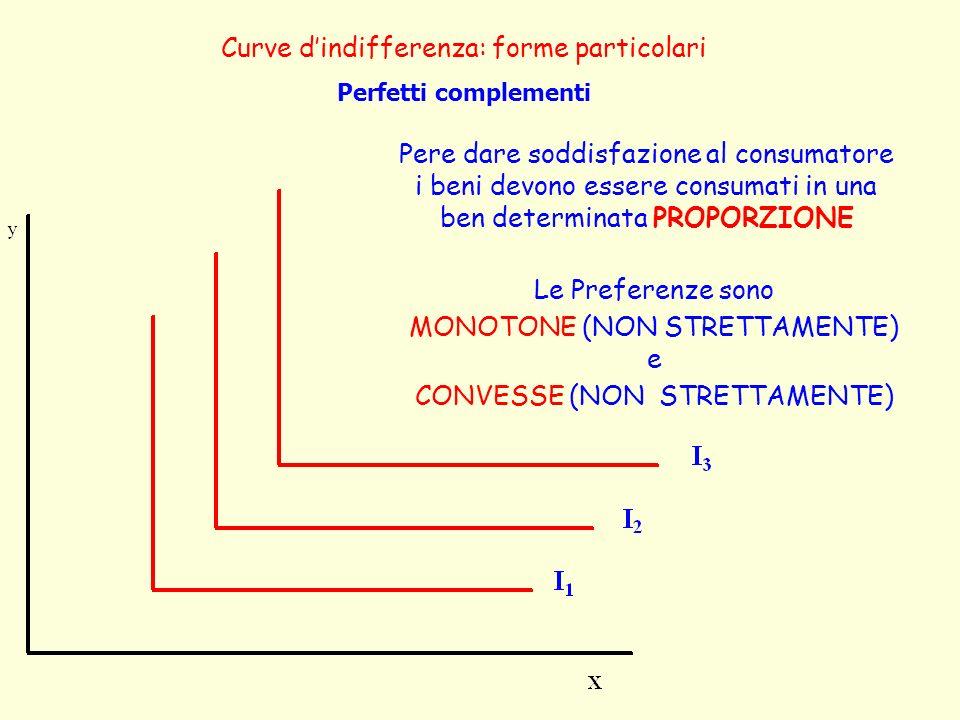Curve d'indifferenza: forme particolari