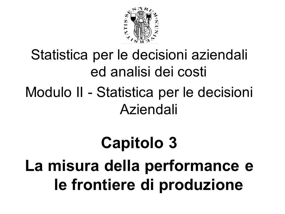 La misura della performance e le frontiere di produzione
