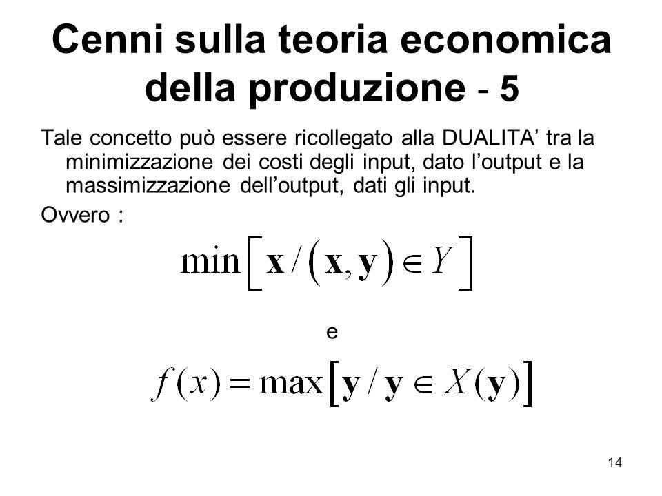 Cenni sulla teoria economica della produzione - 5